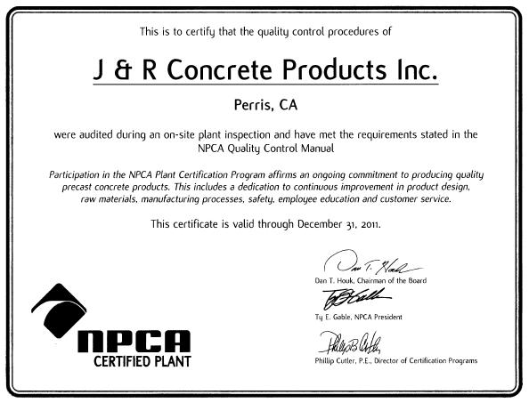 NPCA Certified Plant Certification