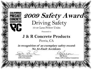 Driving Safety Award
